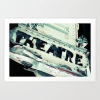 theatre Art Prints featuring Theatre by Photography by Chelsea Lynn Bulik