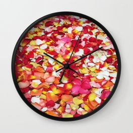 Moroccan Rose Petals Wall Clock