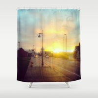 namaste Shower Curtains featuring Namaste by not a name