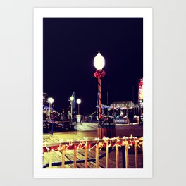 Holidays on the Pier Art Print