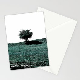 Tree On Hill Stationery Cards