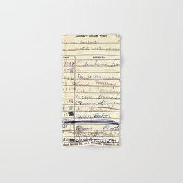 Library Card 780 The Wonderful World of Music Hand & Bath Towel