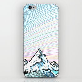 Wave & mountains iPhone Skin