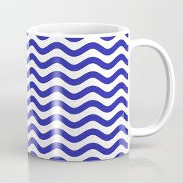 Waves (Navy & White Pattern) Coffee Mug