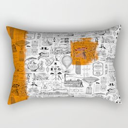 Looking Back to the Future Rectangular Pillow