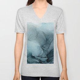 Blue Ocean Fog Calming Abstract Unisex V-Neck