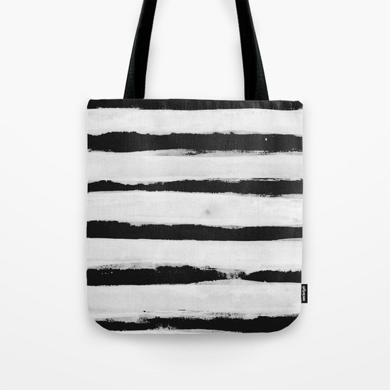 BW Stripes Tote Bag