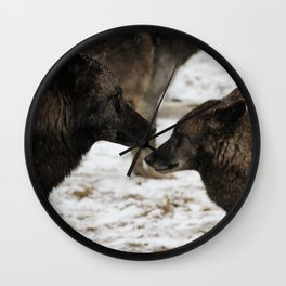 Wolves I  Wall Clock