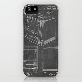 Apple Macintosh Patent - Apple Art - Black Chalkboard iPhone Case