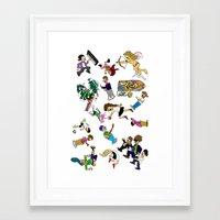 cartoons Framed Art Prints featuring 2014 Cartoons 1 by Reid