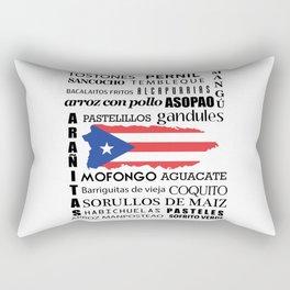 Puerto Rican foody & boricua  cousine  Rectangular Pillow
