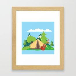 camping , outdoors , nursery decor , children gift, birthday gift Framed Art Print