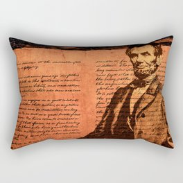 Abraham Lincoln and the Gettysburg Address Rectangular Pillow