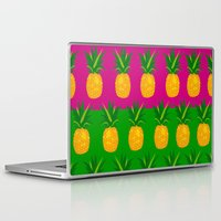 pineapples Laptop & iPad Skins featuring Pineapples by The Wallpaper Files