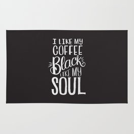 COFFEE BLACK LIKE MY SOUL Rug