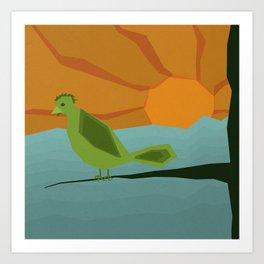 Geo Bird Art Print