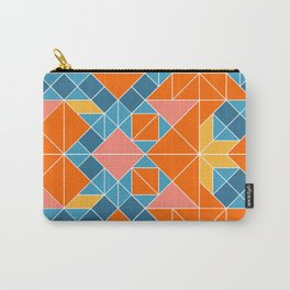 Tangram tiles in orange Carry-All Pouch