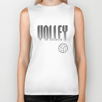 volleyball Biker Tanks featuring Volleyball by raineon