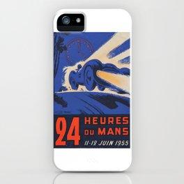 Le Mans 1955, 24hs Le Mans, 1955, original, vintage poster iPhone Case