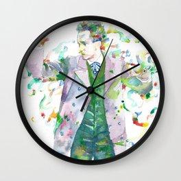 RICHARD STRAUSS - watercolor portrait.1 Wall Clock