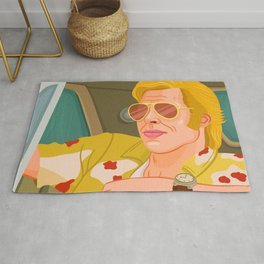 Once Upon A Time in Hollywood Cliff Booth Rug