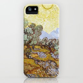 Olive Trees by Vincent van Gogh iPhone Case