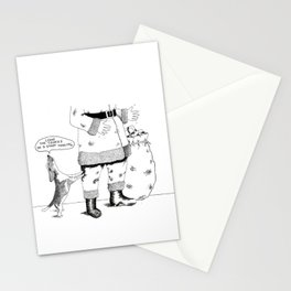 """Leave the cookies or I start howling"" Stationery Cards"
