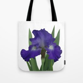Stellar Lights, Deep blue-violet Iris Tote Bag
