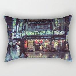 Tokyo Nights / Blade Runner Vibes / Rain / Liam Wong Rectangular Pillow
