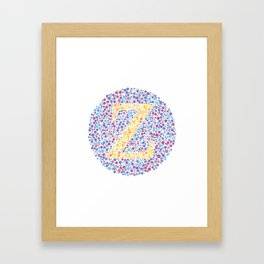 """Z"" Eye Test Letter Circle Framed Art Print"