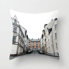 Streets of Alesund Throw Pillow