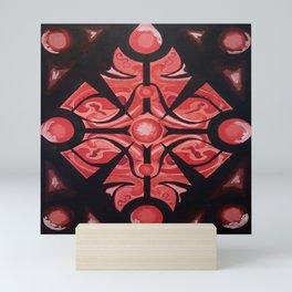 Pattern Red Black Mini Art Print