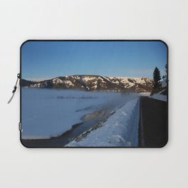 Winter morning at Yellowstone National Park Laptop Sleeve