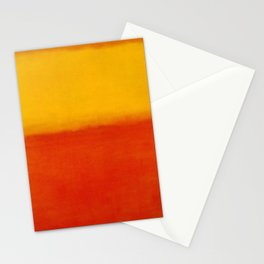 1956 Orange and Yellow by Mark Rothko HD Stationery Cards