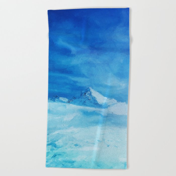 Huge and blue Beach Towel