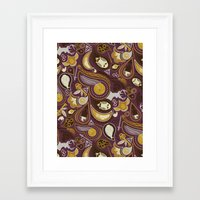 potter Framed Art Prints featuring Potter Paisley by Kate Moore