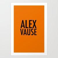 alex vause Art Prints featuring Alex Vause (2) by Zharaoh