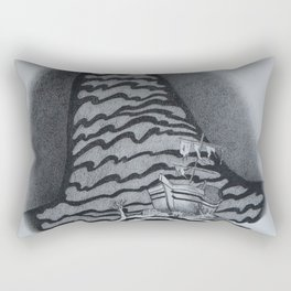 Just Over There (Shipwreck) Rectangular Pillow