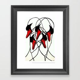 Moving Swan Framed Art Print