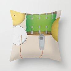 Drum Set Print Throw Pillow