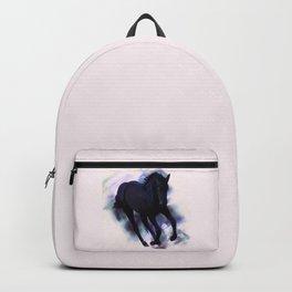 A Friesian foal's morning joy Backpack