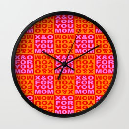 FOR YOU MOM - Red Wall Clock