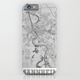 Mannheim Pencil City Map iPhone Case