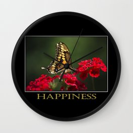Inspiring Happiness Wall Clock