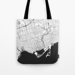Toronto Map Gray Tote Bag