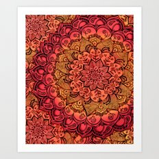 Ruby & Garnet Doodle Art Print