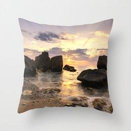 Magic light at sunset Throw Pillow