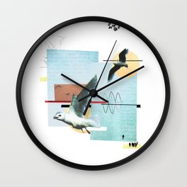 """Seagull"" collage Wall Clock"