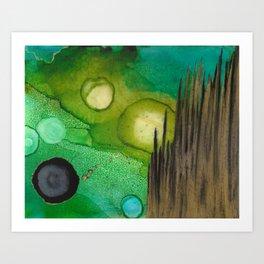 Broken Reeds Art Print