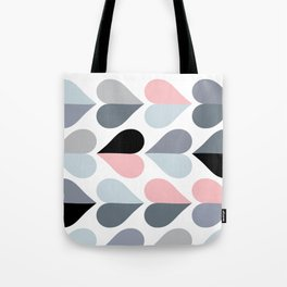 Love and Kisses in Pink and Grey Tote Bag